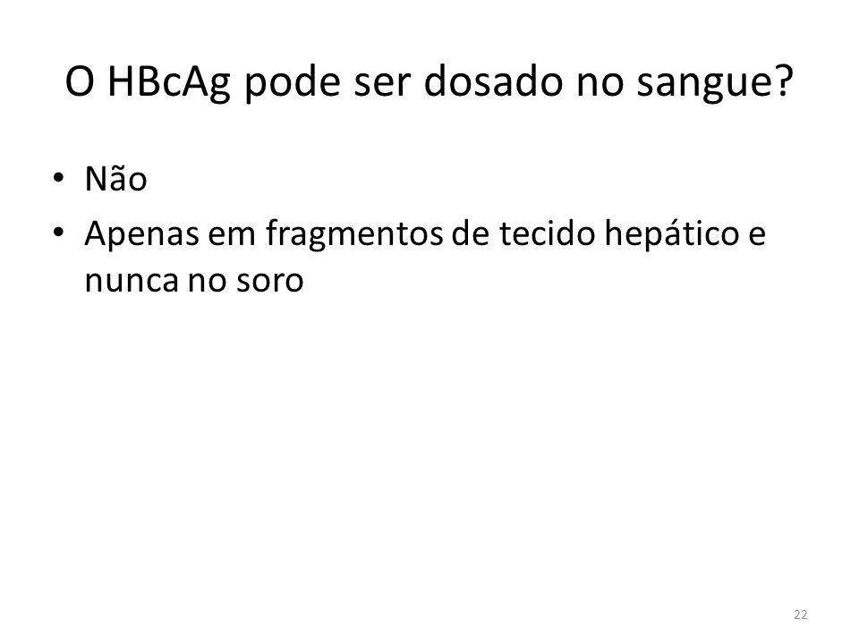 O HBcAg pode ser dosado no sangue
