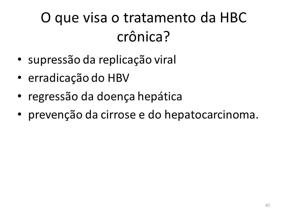 O que visa o tratamento da HBC crônica