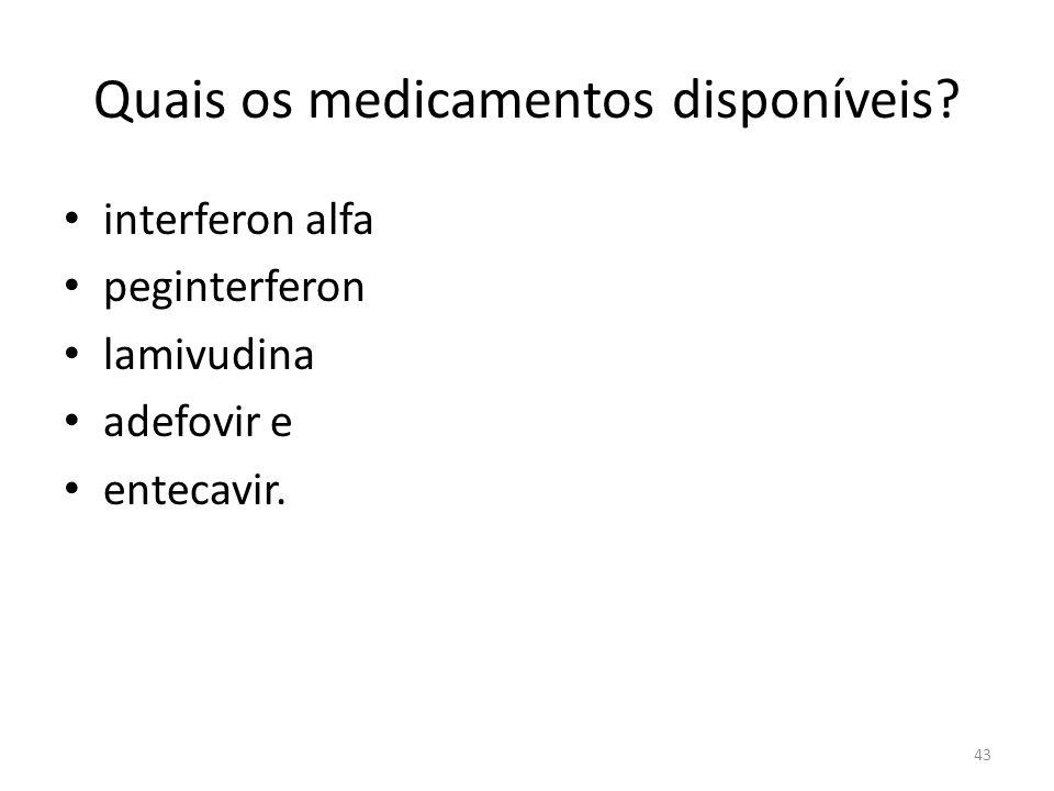 Quais os medicamentos disponíveis