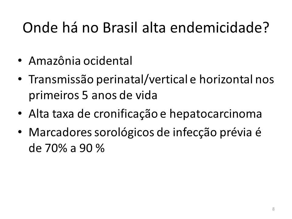 Onde há no Brasil alta endemicidade