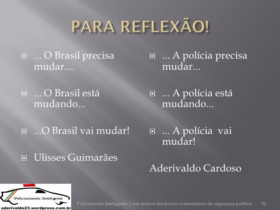 PARA REFLEXÃO! ... O Brasil precisa mudar....