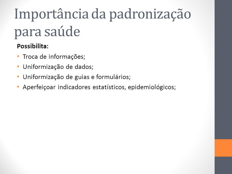 Importância da padronização para saúde