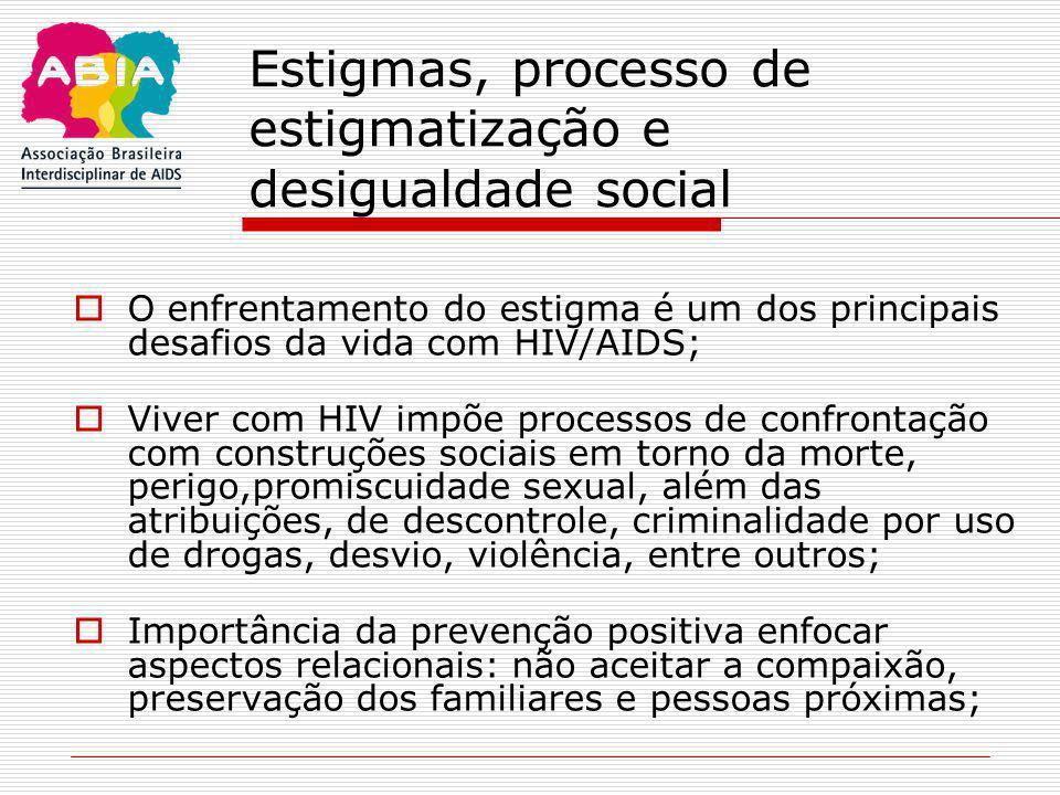 Estigmas, processo de estigmatização e desigualdade social