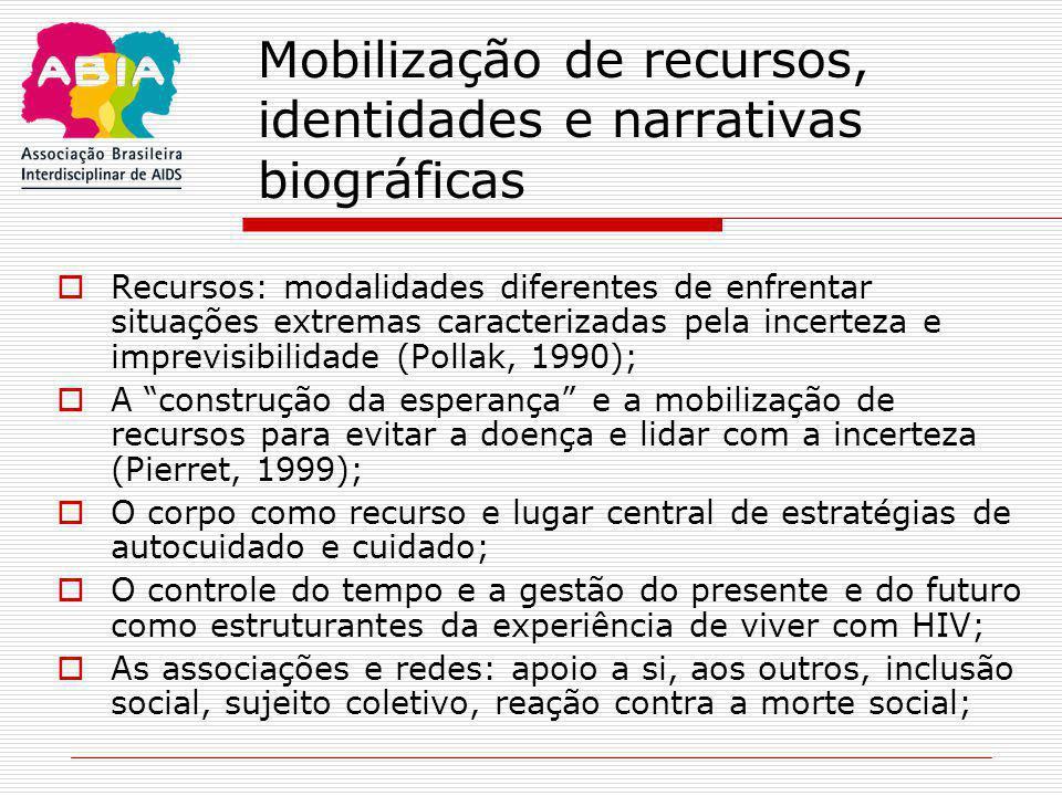Mobilização de recursos, identidades e narrativas biográficas