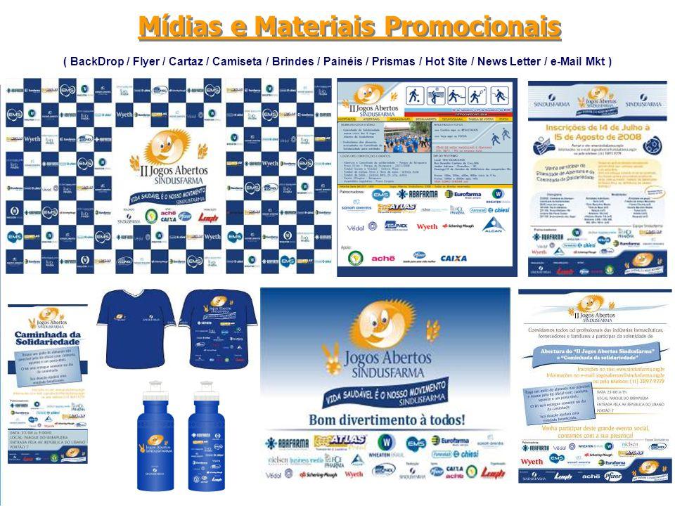 Mídias e Materiais Promocionais