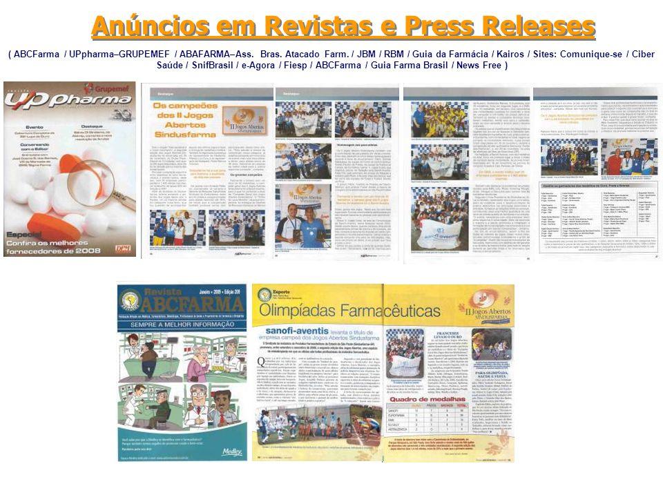 Anúncios em Revistas e Press Releases