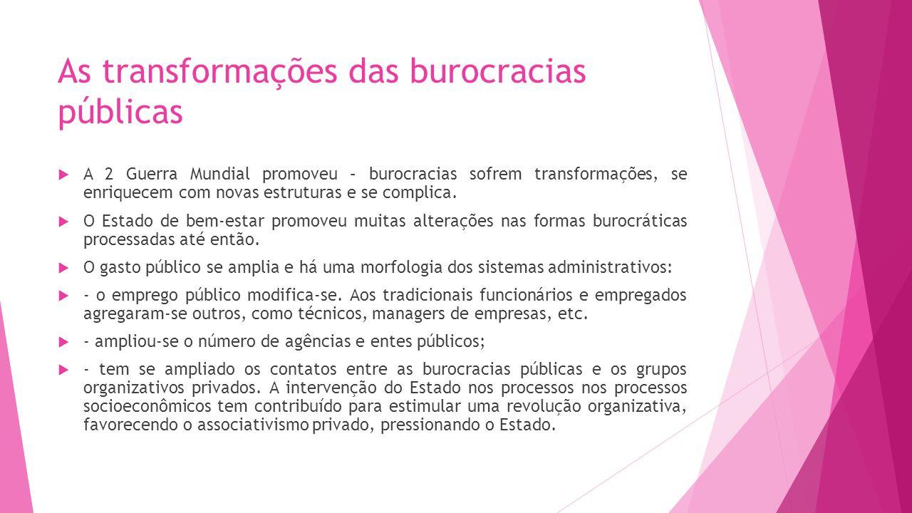 As transformações das burocracias públicas