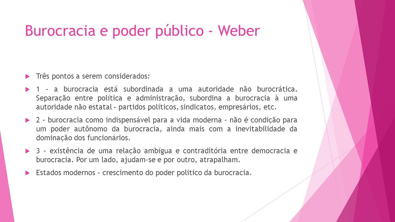 Burocracia e poder público - Weber