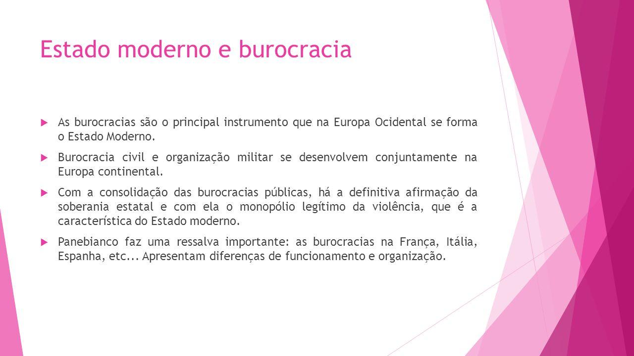 Estado moderno e burocracia