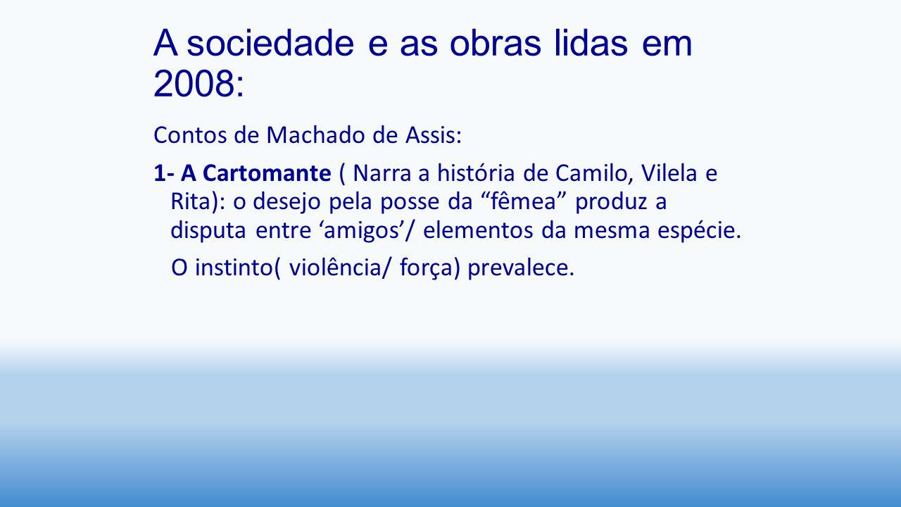 A sociedade e as obras lidas em 2008: