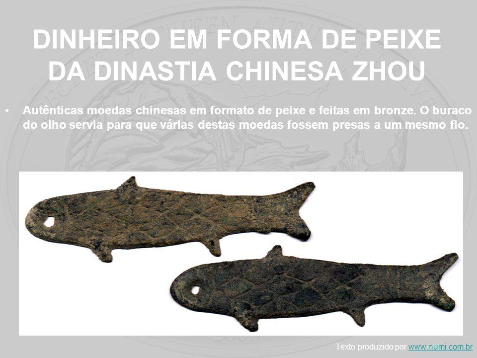 DINHEIRO EM FORMA DE PEIXE DA DINASTIA CHINESA ZHOU