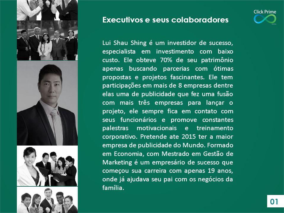 Executivos e seus colaboradores