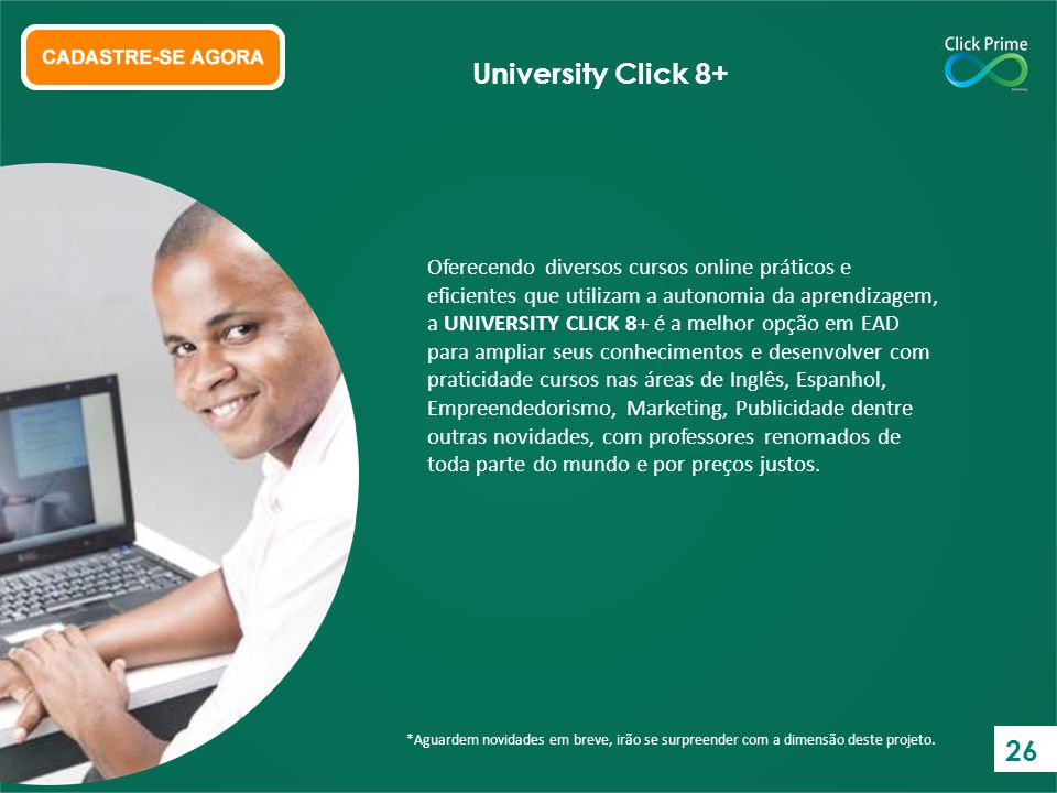 University Click 8+