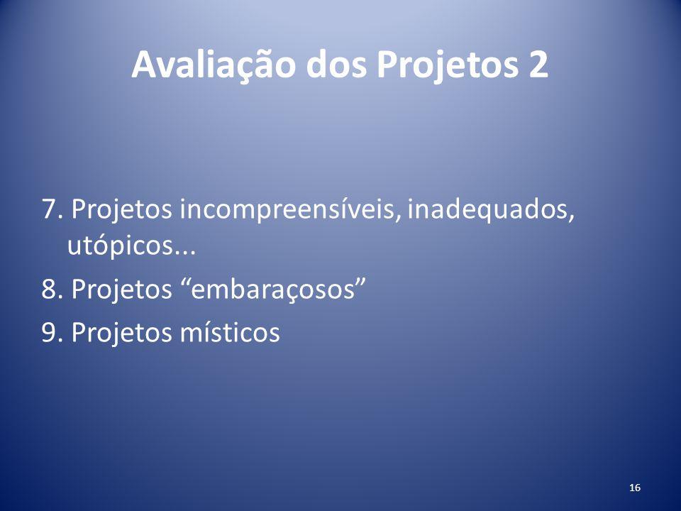 Avaliação dos Projetos 2