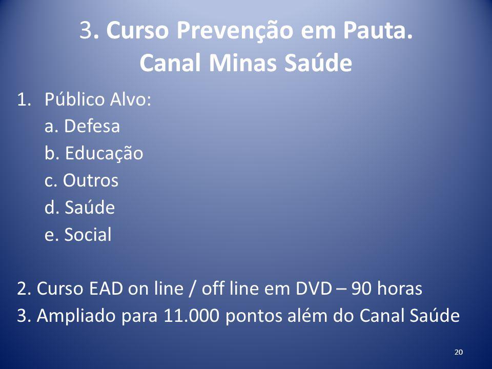 3. Curso Prevenção em Pauta. Canal Minas Saúde