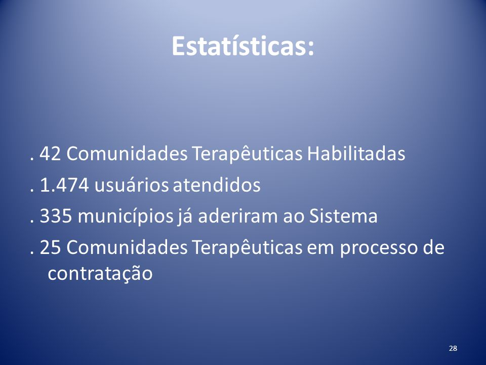Estatísticas: