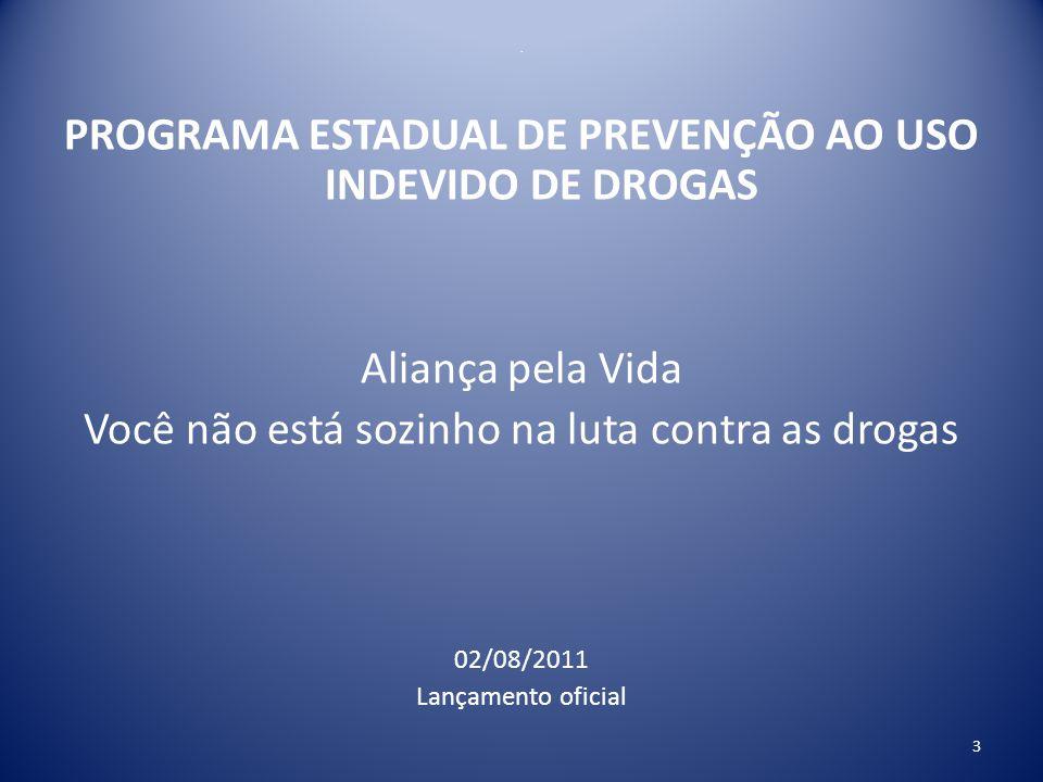 PROGRAMA ESTADUAL DE PREVENÇÃO AO USO INDEVIDO DE DROGAS