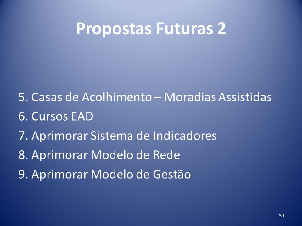 Propostas Futuras 2