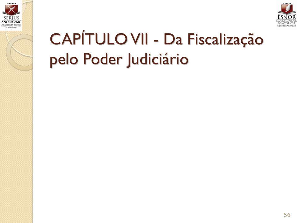 CAPÍTULO VII - Da Fiscalização pelo Poder Judiciário