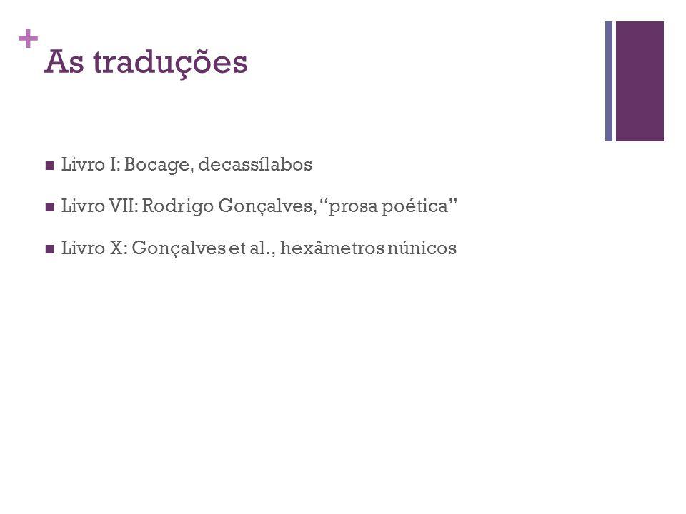 As traduções Livro I: Bocage, decassílabos