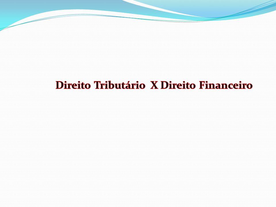 Direito Tributário X Direito Financeiro