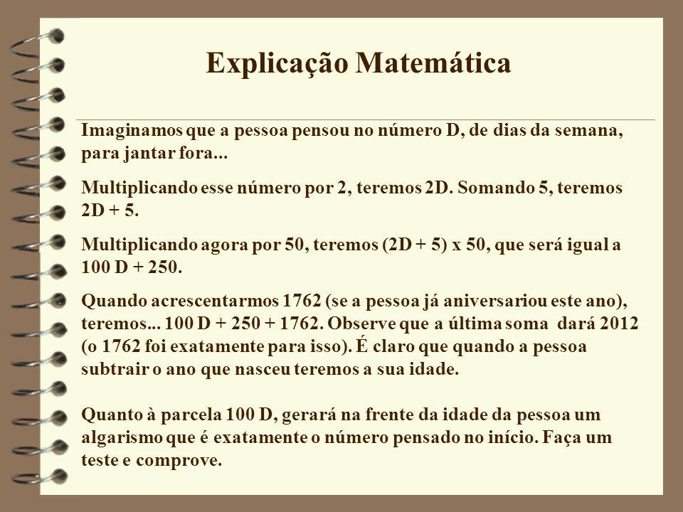 Explicação Matemática