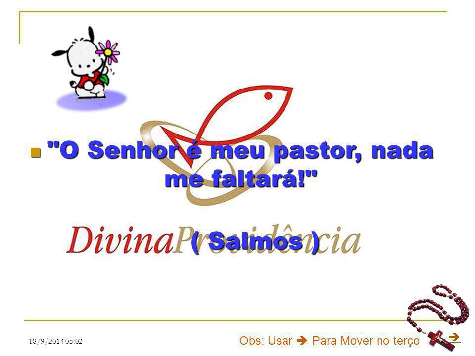 O Senhor é meu pastor, nada me faltará!