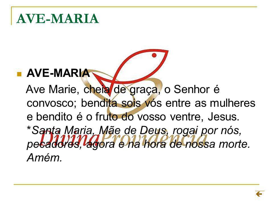 AVE-MARIA AVE-MARIA.