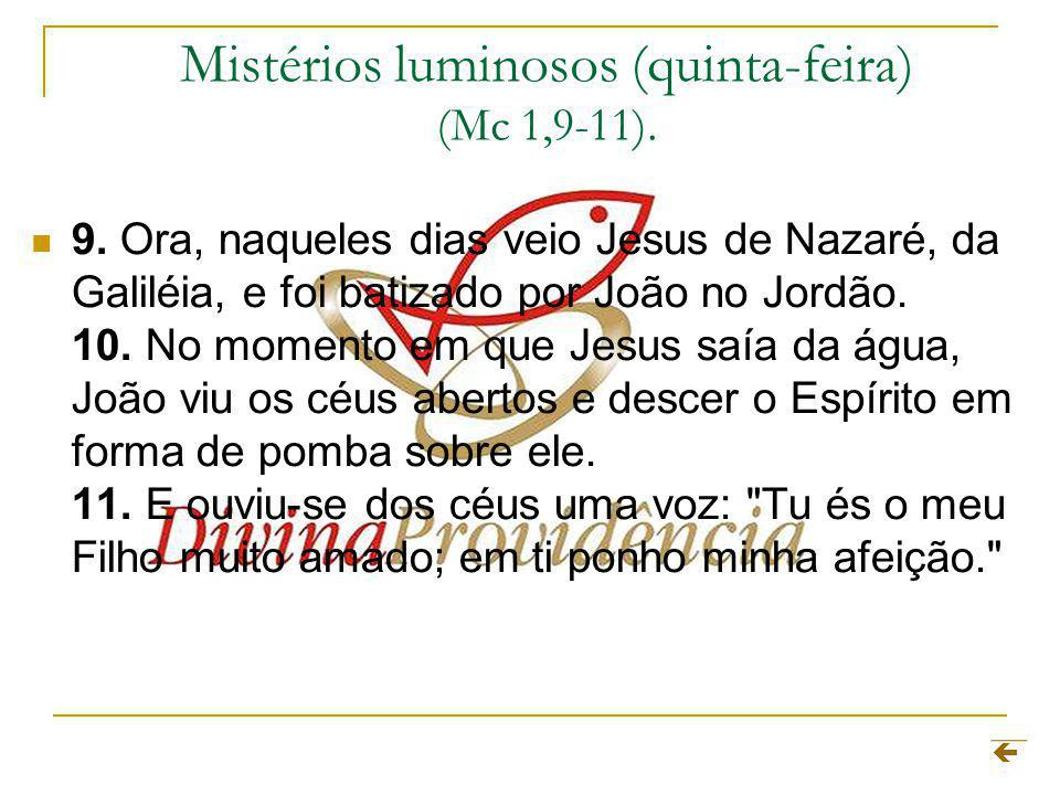 Mistérios luminosos (quinta-feira) (Mc 1,9-11).