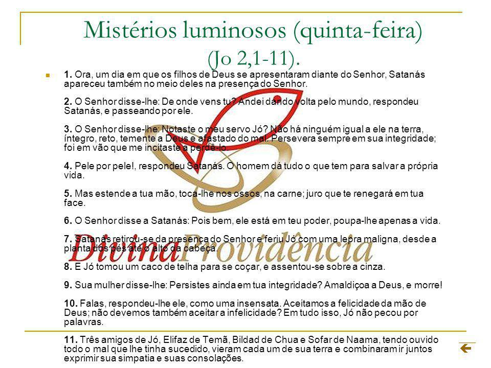 Mistérios luminosos (quinta-feira) (Jo 2,1-11).