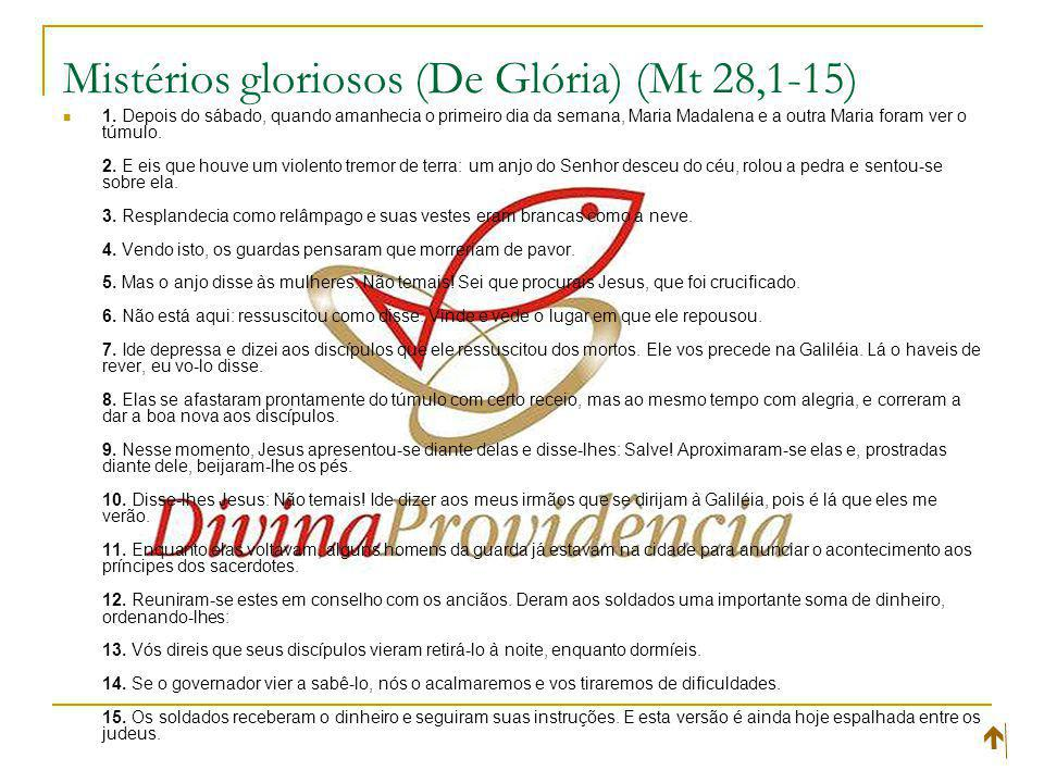 Mistérios gloriosos (De Glória) (Mt 28,1-15)