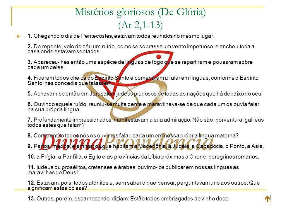 Mistérios gloriosos (De Glória) (At 2,1-13)