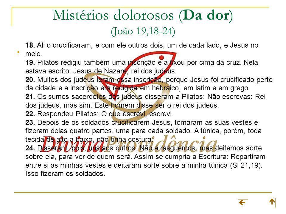 Mistérios dolorosos (Da dor) (João 19,18-24)