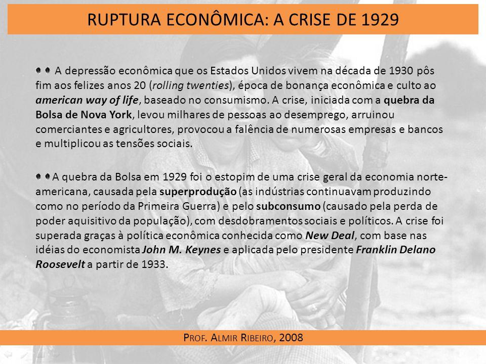 RUPTURA ECONÔMICA: A CRISE DE 1929