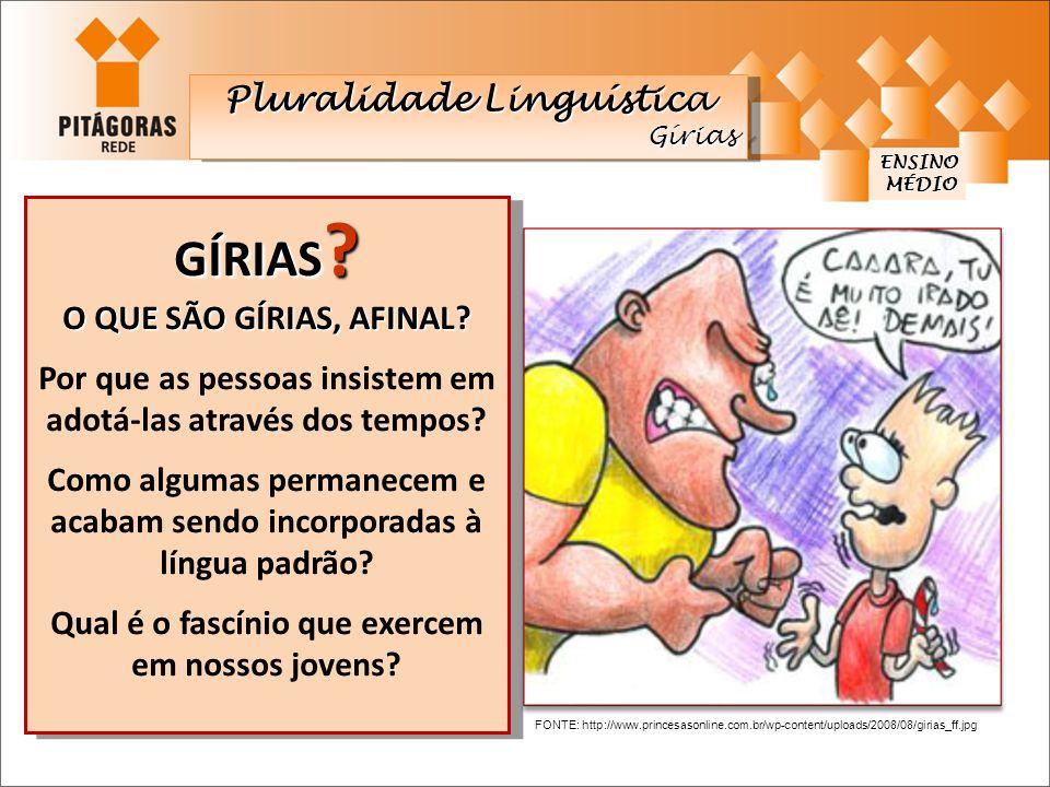 GÍRIAS Pluralidade Linguística O QUE SÃO GÍRIAS, AFINAL