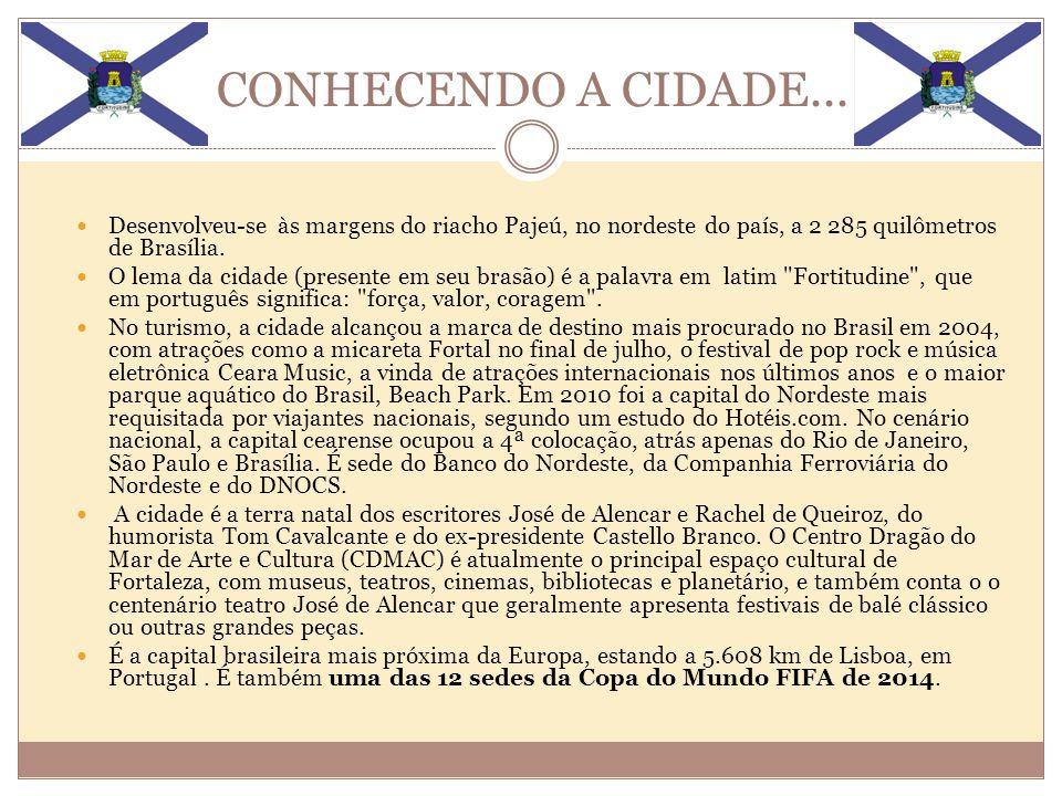 CONHECENDO A CIDADE... Desenvolveu-se às margens do riacho Pajeú, no nordeste do país, a 2 285 quilômetros de Brasília.
