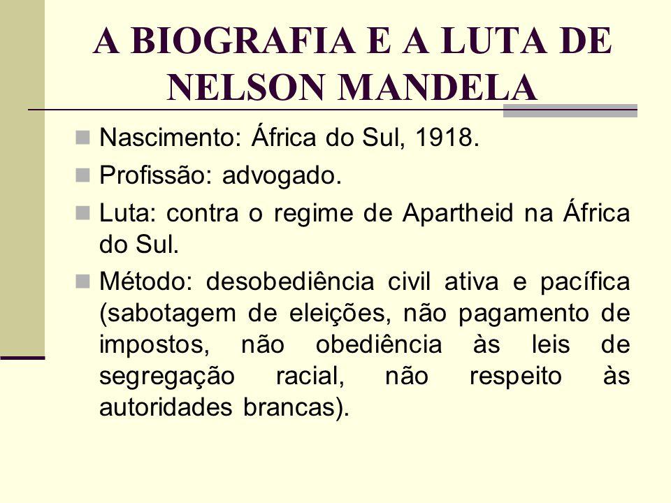 A BIOGRAFIA E A LUTA DE NELSON MANDELA