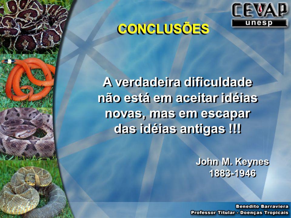 CONCLUSÕES A verdadeira dificuldade não está em aceitar idéias novas, mas em escapar das idéias antigas !!!