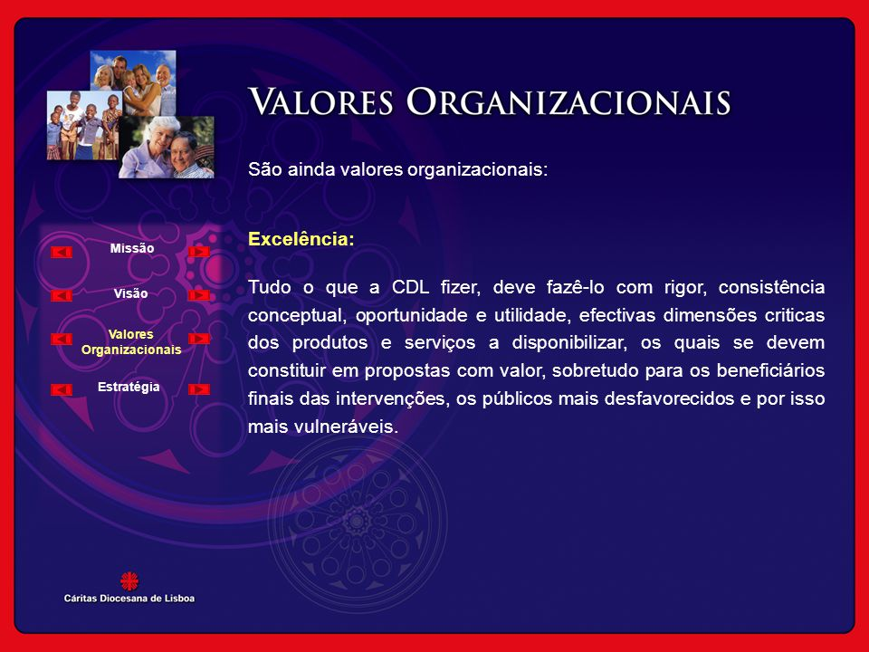 Valores Organizacionais