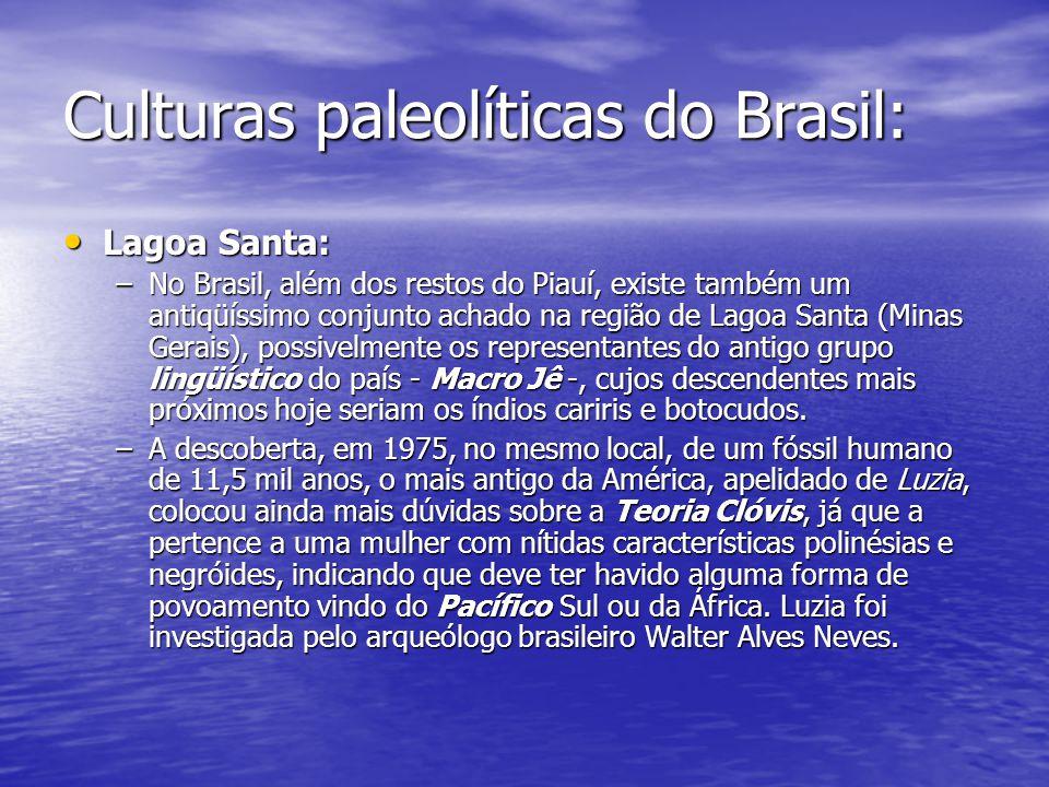 Culturas paleolíticas do Brasil: