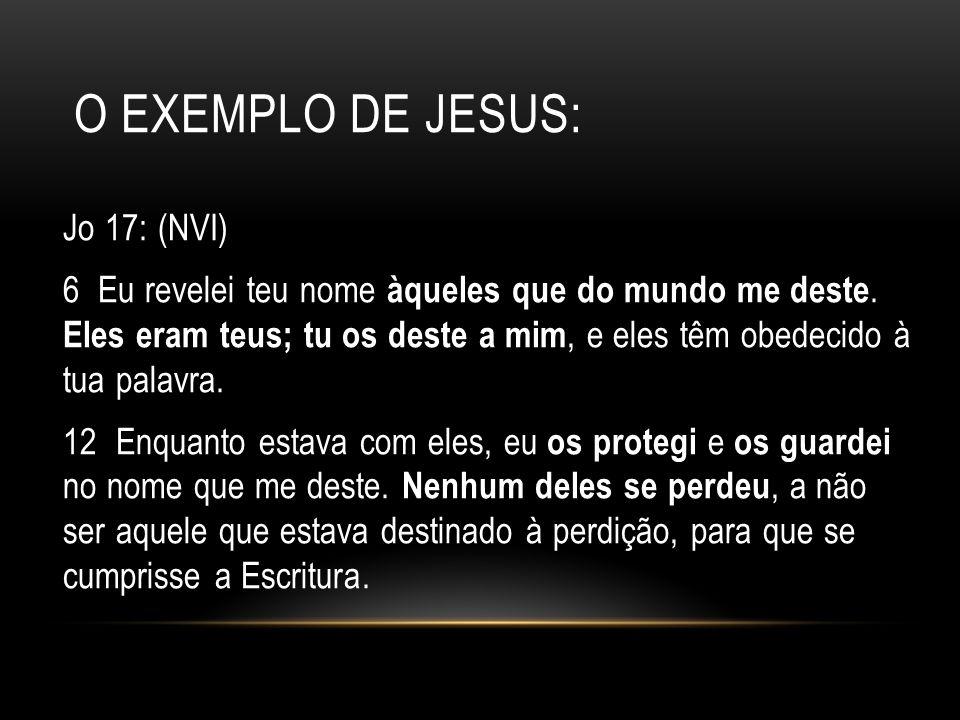 O Exemplo de jesus: