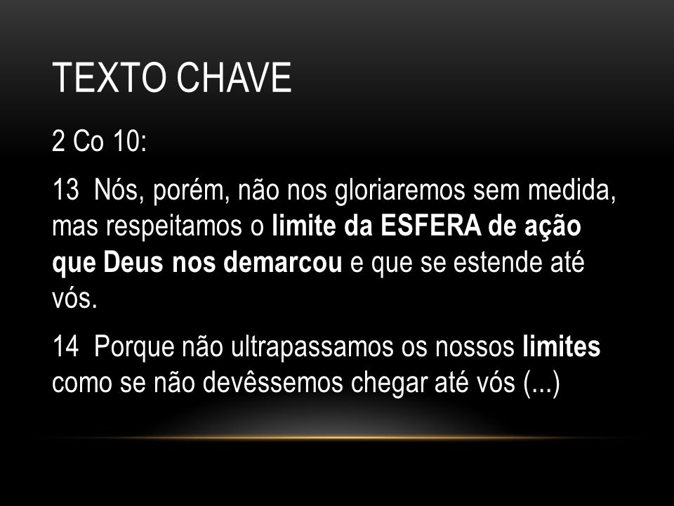Texto chave