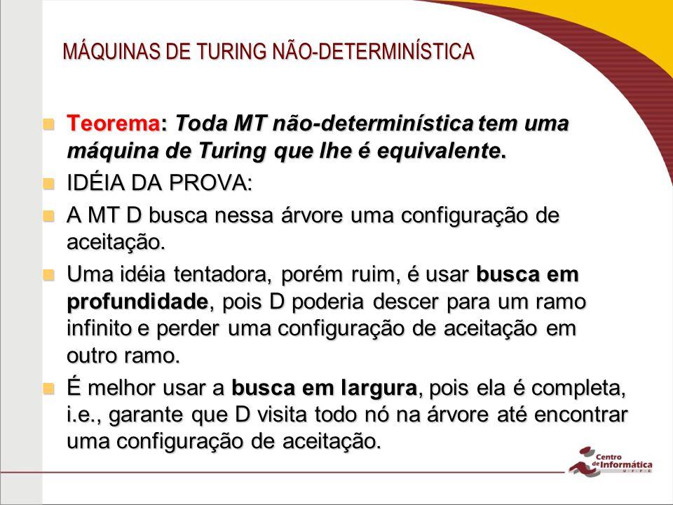 MÁQUINAS DE TURING NÃO-DETERMINÍSTICA