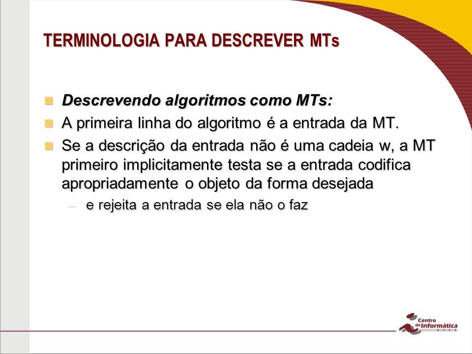 TERMINOLOGIA PARA DESCREVER MTs