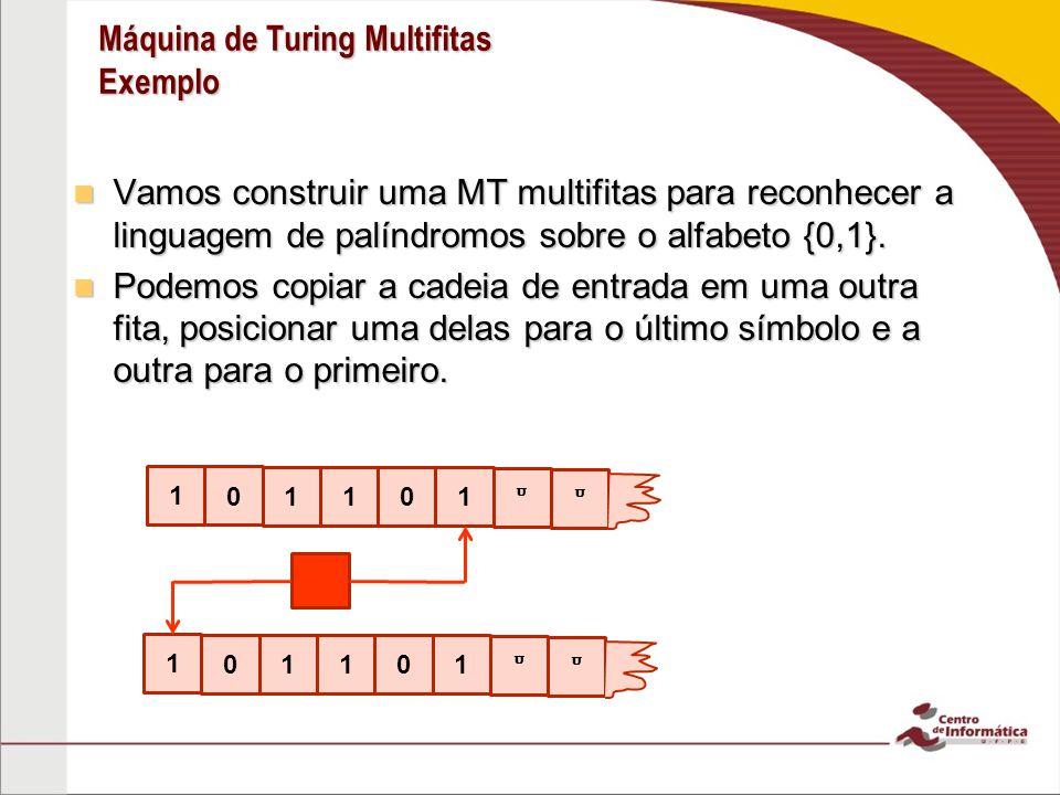 Máquina de Turing Multifitas Exemplo