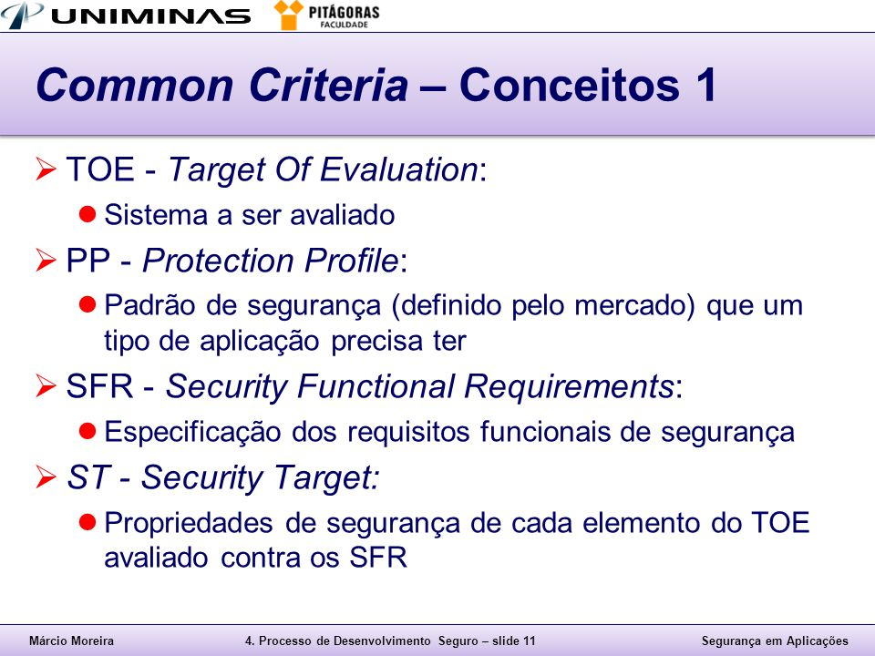 Common Criteria – Conceitos 1