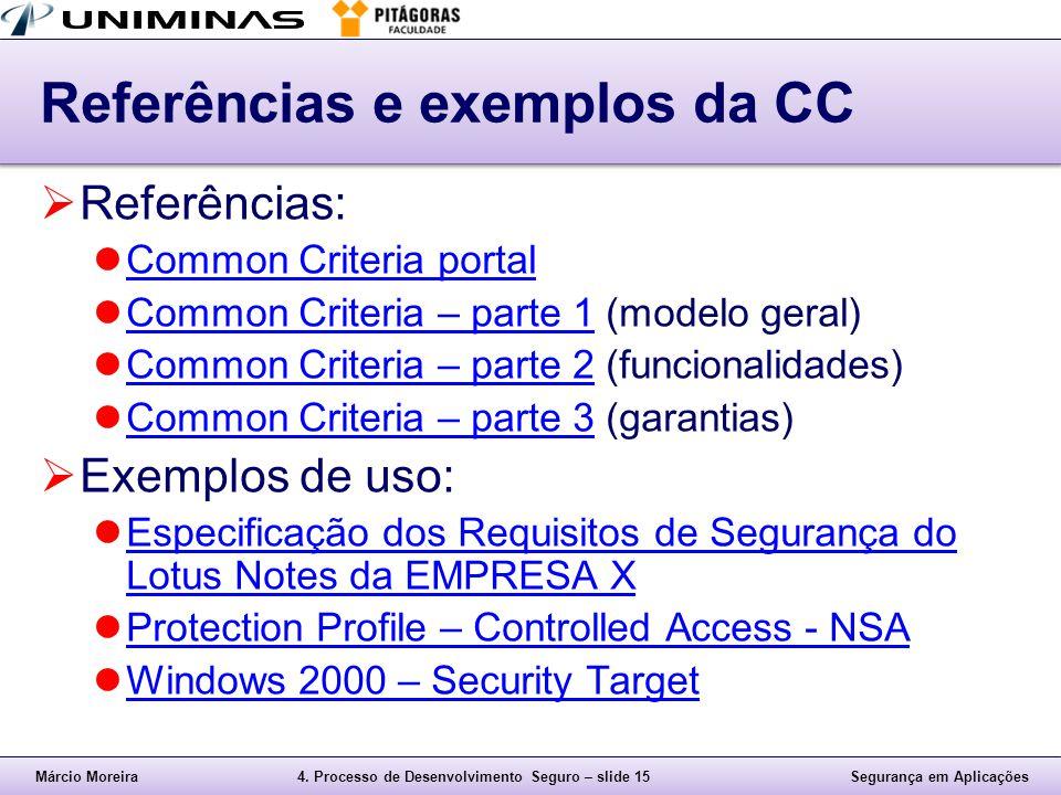 Referências e exemplos da CC