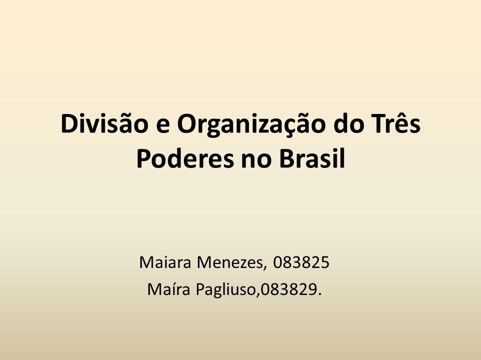 Divisão e Organização do Três Poderes no Brasil