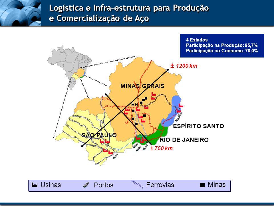 Logística e Infra-estrutura para Produção e Comercialização de Aço
