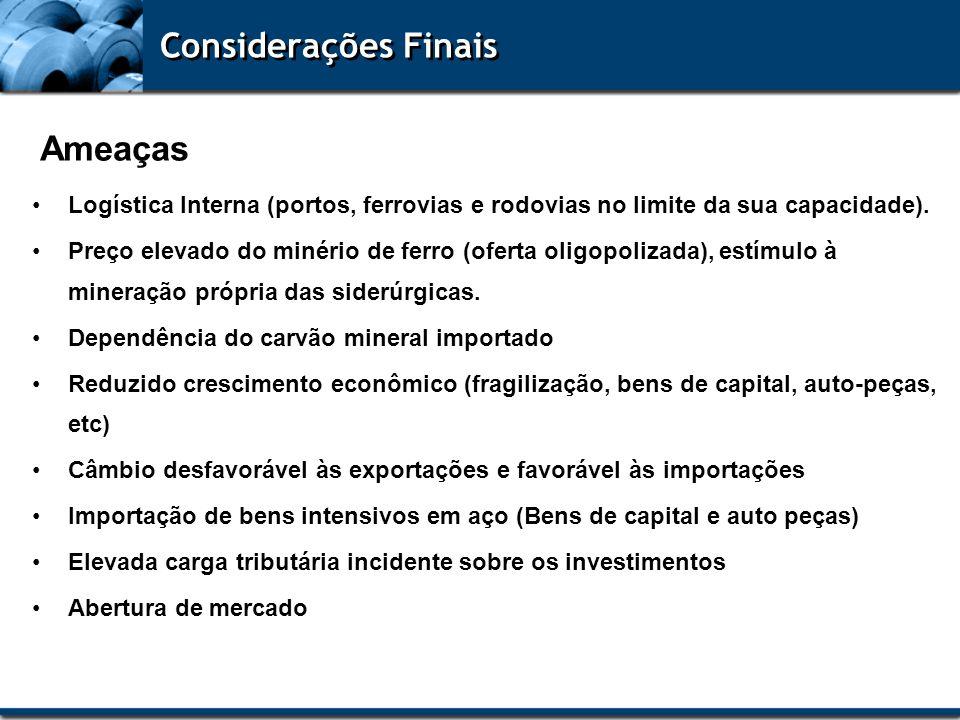 Considerações Finais Ameaças